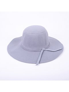 HA0220C GREY FELT WIDE BRIM HAT Please Click the image for more information.