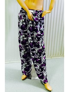 K027 Blue  Purple Rayon Pants3pce pack   1 x sml Please Click the image for more information.