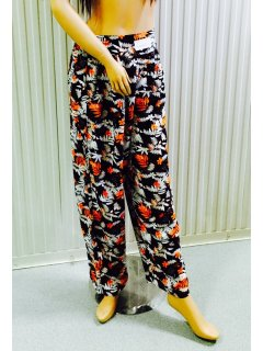 K027B BLACK  ORANGE RAYON PANTS 3PCE PACK  1 X SML Please Click the image for more information.