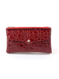 H0646C RED CROC WALLET Please Click the image for more information.