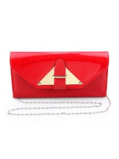 H0730A RED VINYL  PATENT EVENING BAG Please Click the image for more information.