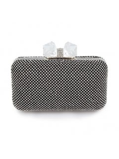 H0752A BLACK DIAMONTE EVENING BAG WITH LARGE CRYSTAL CLASP Please Click the image for more information.