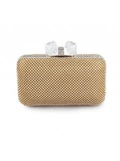 H0752B GOLD DIAMONTE EVENING BAG WITH LARGE CRYSTAL CLASP Please Click the image for more information.