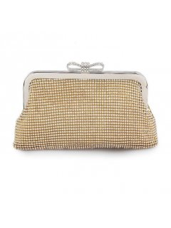 H0754B GOLD DIAMONTE EVENING BAG WITH BOW CLASP Please Click the image for more information.