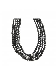 10812A BLACK PEARL XTRA LONG NECKLACE Please Click the image for more information.