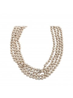 10812B CHAMPAGNE XTRA LONG PEARL NECKLACE Please Click the image for more information.