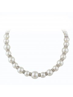10814 CREAM GRADUATED PEARL WITH MAGNETIC INSERTS  MAGNETIC CLASP  20 LONG Please Click the image for more information.