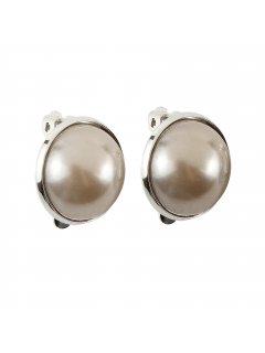 E0653B MOCHA CLIP ON PEARL EARRING  MEDIUM Please Click the image for more information.