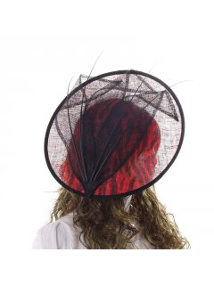 HA0263 RED ANIMAL PRINT HATINATOR Please Click the image for more information.