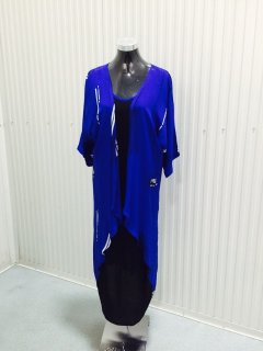 K080B SUMMER DRESS WITH BUILTIN LONGLINE VESTBLACK DRESS WITH BLUE VESTAVAILABLE IN PACK OF 3  MLXLALSO AVAILABLE IN XXL TO BE PURCHASED SEPERATELY Please Click the image for more information.