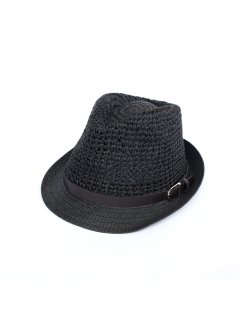 HA0251B BLACK HAT WITH BELT TRIM Please Click the image for more information.