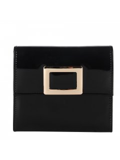 H0785 BLACK PATENT EVENING BAG  GOLD CATCH Please Click the image for more information.