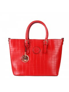 H0795A RED LADIES TOTE WITH  SATCHEL INCLUDED Please Click the image for more information.