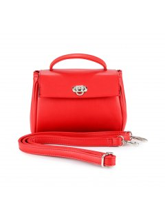 H0807B RED LADIES MID SIZE HANDBAGCOMES WITH BOTH SHORT AND LONG STRAPS Please Click the image for more information.