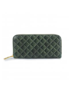 H0817D GREEN QUILTED LADIES WALLET Please Click the image for more information.