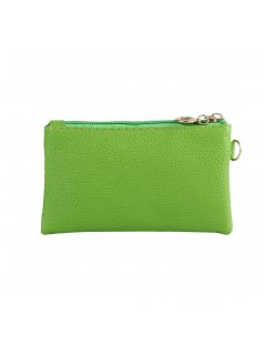 H0819B GREEN COIN PURSE WITH WRIST STRAP Please Click the image for more information.
