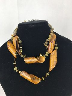 1102 LADIES BROWN WOODEN CHOKER Please Click the image for more information.