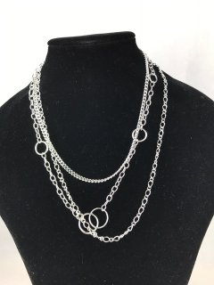 7061A LADIES SILVER 3 CHAIN NECKLACE  Please Click the image for more information.