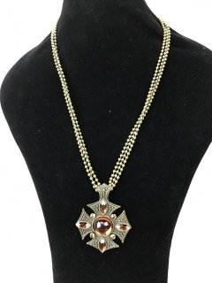 5772 ANTIQUE GOLD NECKLACE WITH AMBER STONES Please Click the image for more information.