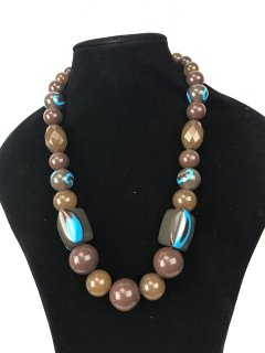 10036 CHUNKY LADIES CHOCBLUE NECLACE Please Click the image for more information.