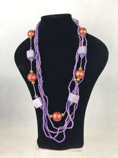 0609 MAUVE WOODEN LADIES NECKLACE Please Click the image for more information.
