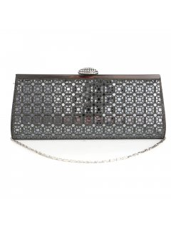 H0821B CHARCOAL MIRRORED EVENING BAG Please Click the image for more information.