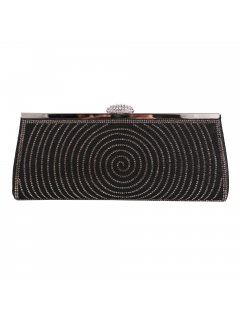 H0823 BLACK EVENING BAG WITH DIAMONTE TRIM Please Click the image for more information.