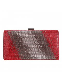 H0824C RED DIAMONTE VARIGATED EVENING BAG Please Click the image for more information.
