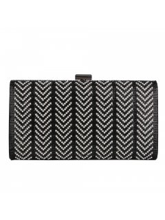 H0825 BLACK DIAMONTE EVENING BAG Please Click the image for more information.