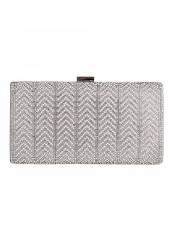 H0825C SILVER EVENING BAG WITH DIAMONTE FEATURE Please Click the image for more information.
