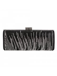 H0826 BLACK  SILVER DIAMONTE EVENING BAG Please Click the image for more information.