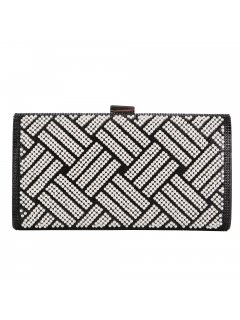 H0830 BLACK  SILVER DIAMONTE EVENNINNG BAG Please Click the image for more information.