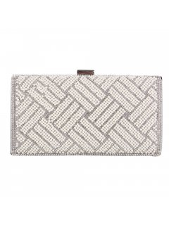 H0830A SILVER  LT GREY EVENING BAG Please Click the image for more information.