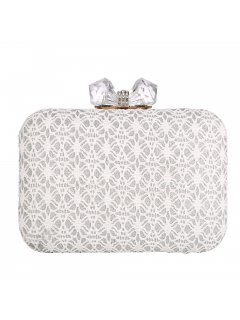 H0831C WHITE LACE EVENING BAG Please Click the image for more information.