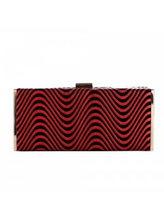 H0832B BLACK  RED EVENING BAG Please Click the image for more information.
