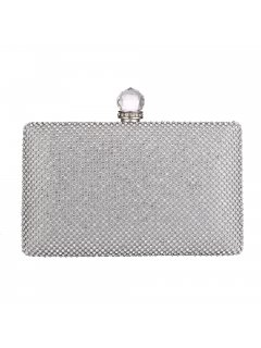H0839 SILVER DIAMONTE EVENING BAG Please Click the image for more information.