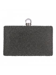 H0839A BLACK DIAMONTE EVENING BAG Please Click the image for more information.