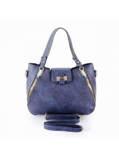 H0835B BLUE DAY BAG WITH ZIP FEATURE Please Click the image for more information.