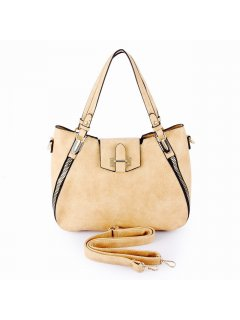 H0835C BEIGE DAY BAG WITH ZIP FEATURE Please Click the image for more information.
