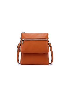 H0821D ORANGE LEATHER DOUBLE COMPARTMENT TRAVEL BAG Please Click the image for more information.