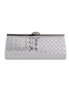 H0821A EVENING SILVER MIRRORED EVENING BAG Please Click the image for more information.