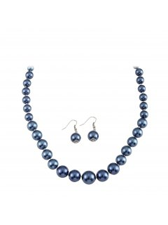 10650J BLUE PEARL NECKLACE  EARRING SET Please Click the image for more information.