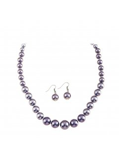10650K MAUVE PEARL NECKLACE  EARRING SET Please Click the image for more information.