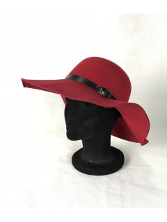 HA0281A THIS IS A GORGEOUS FELT WIDE BRIM HAT WITH A BELTED FEATURE THIS STYLE IS AVAILABLE IN 8 COLOURS NAVY BURGUNDY BLACK TAUPE FUCHSIA RED GREY AND COBALT. Please Click the image for more information.
