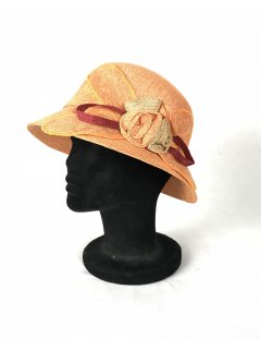 HA0278 THIS IS A BEAUTIFUL SINNAMAY NARROW BRIMMED HAT WITH A SINNAMAY FLOWER FEATURE THIS STYLE IS AVAILABLE IN 5 COLOURS ORANGE BLUE GREY BEIGE AND RED. Please Click the image for more information.