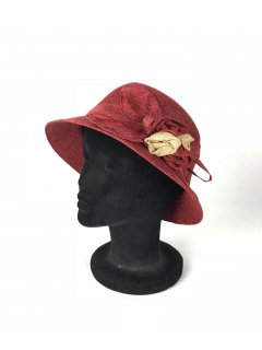 HA0278D THIS IS A BEAUTIFUL SINNAMAY NARROW BRIMMED HAT WITH A SINNAMAY FLOWER FEATURE THIS STYLE IS AVAILABLE IN 5 COLOURS ORANGE BLUE GREY BEIGE AND RED. Please Click the image for more information.