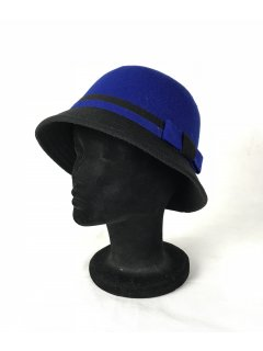 HA0277 THIS IS A CUTE FELT NARROW BRIMMED HAT WITH A CONTRAST BOW AND BRIM FEATURE THIS STYLE IS AVAILABLE IN 4 COLOURS BLUEBLK TANBLK PINKBLK AND REDBLK. Please Click the image for more information.