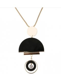 10854 GOLD NECKLACE  WITH FASHIONABLE DROP Please Click the image for more information.