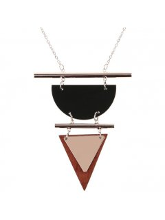 10852B ROSE GOLD NECKLACE WITH TRIANGLE DROP Please Click the image for more information.