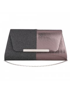 H0869 BLACK  BRONZE 2 TONE EVENING BAG Please Click the image for more information.